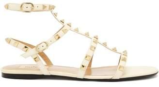 Valentino Rockstud flat leather sandals
