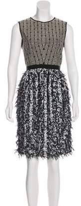 Prabal Gurung Fringe-Accented Sleeveless Dress Black Fringe-Accented Sleeveless Dress