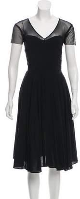 Versace Short Sleeve Midi Dress