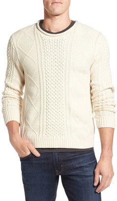 Nordstrom Wool Blend Fisherman Sweater $89.50 thestylecure.com