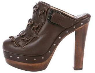 3.1 Phillip Lim Leather Platform Clogs