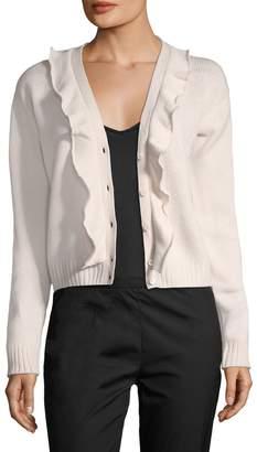 Prada Women's Cashmere Ruffle Cardigan