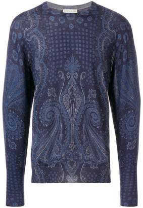 Etro mixed paisley print sweater