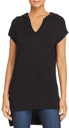 Andrew Marc Hooded High/Low Tunic Top