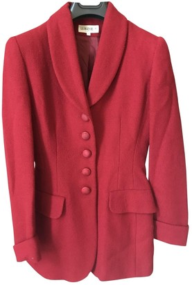 Georges Rech Red Wool Jacket for Women Vintage