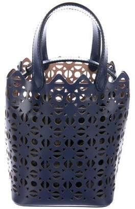 Alaia Leather Laser-Cut Bucket Bag