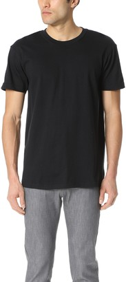 Naked & Famous Denim Circular Knit T Shit - Black Tee
