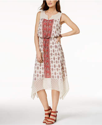 Style&Co. Style & Co Lace-Trim Midi Dress, Created for Macy's