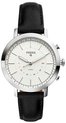 Fossil Q Neely Black Leather Strap Hybrid Smartwatch