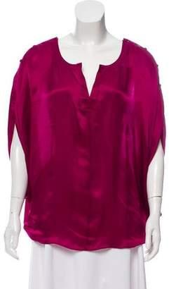 Rachel Zoe Silk Short Sleeve Top