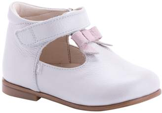 Emel Bow Leather T-Strap Flat