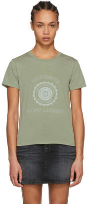 Saint Laurent Khaki Universite T-Shirt