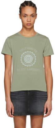 Saint Laurent Khaki Universite T-Shirt