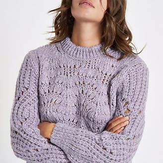 River Island Womens Light purple chunky knit jumper
