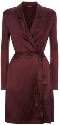 La Perla Silk Reward Bordeaux Short Silk Robe