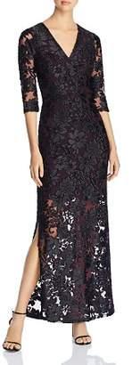 Leota Floral Mesh Illusion Maxi Dress