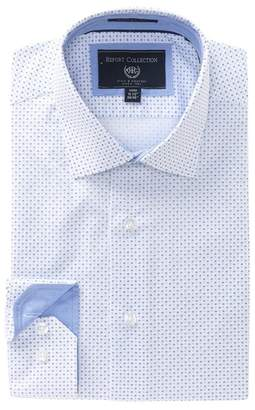 Report Collection Printed Dobby Modern Fit Dress Shirt
