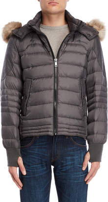 Jet Lag Jetlag Faux Fur-Trimmed Hooded Down Jacket