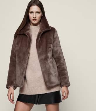 Reiss Orsa Faux-Fur Coat