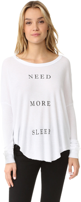 Wildfox More Sleep Thermal Tee $88 thestylecure.com