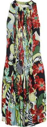 Etro Pintucked Printed Jersey Dress