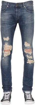 17cm Distressed Cotton Denim Jeans $360 thestylecure.com