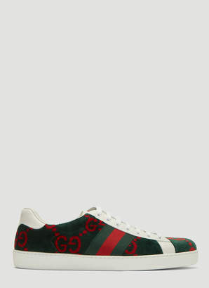 Gucci Ace GG Logo Sneakers in Green
