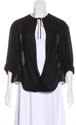 Dion Lee Front Loop Three-Quarter Sleeves Blouse w/ Tags