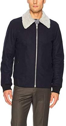 Theory Men's Woll Bomber Jacket with Removable Shearling Collar