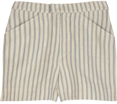 Tucker High-waisted striped linen shorts