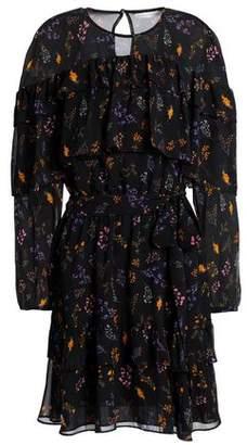 Rebecca Minkoff Tiered Floral-Print Chiffon Mini Dress