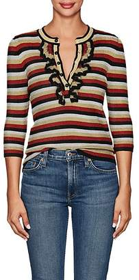Philosophy di Lorenzo Serafini Women's Striped Metallic-Knit Top