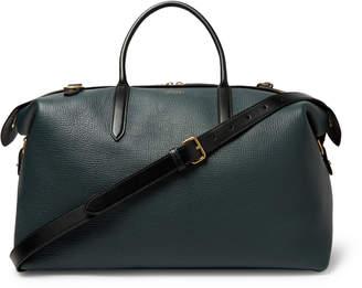 Smythson Full-Grain Leather Holdall - Men - Green