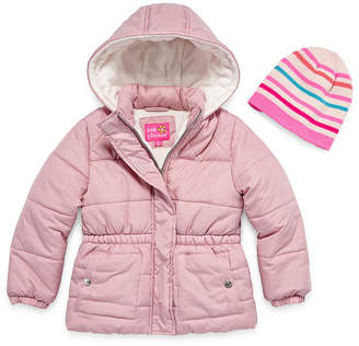 Pink Platinum Heavyweight Puffer Jacket - Girls 4-16