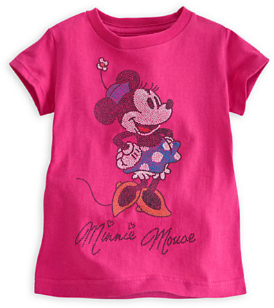 Disney Minnie Mouse Glittering Tee For Girls