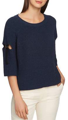 1 STATE 1.STATE Cutout Sleeve Sweater