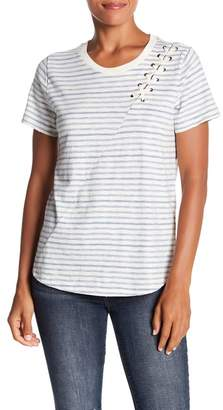 Lucky Brand Stripe Lace Up Shoulder