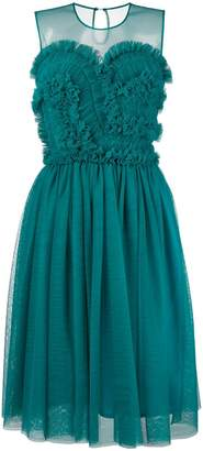 P.A.R.O.S.H. ruffled flared dress