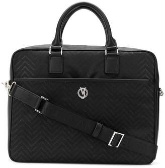 Versace chevron monogram briefcase