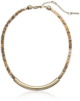 Kenneth Cole New York Rose Gold Items Rose Gold Frontal Bar with Mesh Tube Choker Necklace