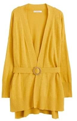 Violeta BY MANGO Belted cotton cardigan