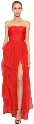 Ermanno Scervino Strapless Silk Organza Dress