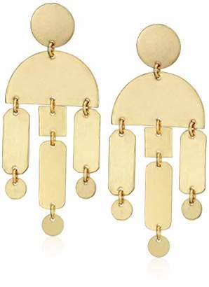Panacea Women's Brass Art Deco Drop Earrings