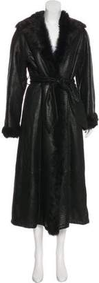 Valentino Leather & Fur Coat