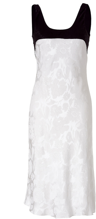 Narciso Rodriguez Two-Tone Floral Textured Silk Dress