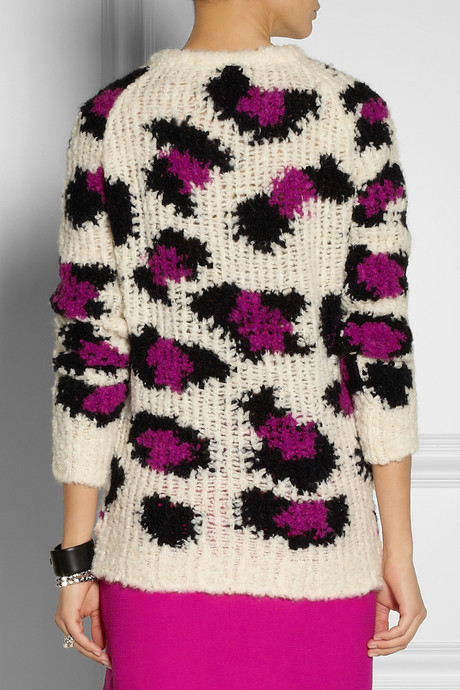 Moschino Cheap & Chic Moschino Cheap and Chic Leopard-patterned open-knit sweater
