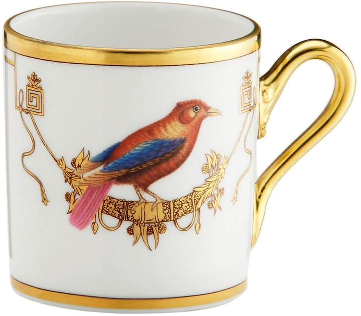 Richard Ginori 1735 Voliere Tangara Coffee Cup, White