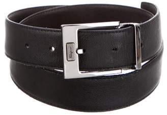 Salvatore Ferragamo Leather Reversible Belt black Leather Reversible Belt