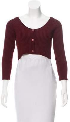 Dolce & Gabbana Virgin Wool Cropped Cardigan w/ Tags