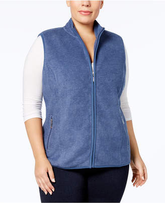 Karen Scott Plus Size Zeroproof Fleece Vest